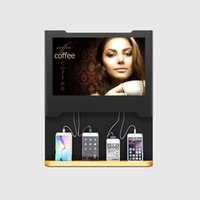 """Wholesale Wall Mount Screens - OB-TV7-01L Wall Mount 19"""" LCD Screen Restaurant Mobile Phone Charging Station With Mfi Cables For iPhone iPad Andriod"""