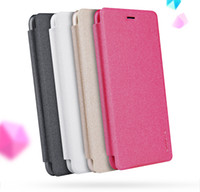 Wholesale Original Nillkin Case - Original Nillkin Sparkle Series leather case for Huawei P10 Lite flip cover case with retail package
