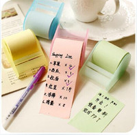 Self-Adhesive blank sticky note - pc Meters tearful rolling package cute bookmark sticky note memo pad colors blank N time school sticker office stationary