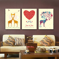 Wholesale One Piece Oil Painting - Household personality Oil Paintings 3 piece Combination Hand-Painted Contemporary Style design for for Living Room Bedroom Decoration