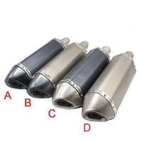 Wholesale Stainless Steel Exhaust Muffler - Stainless Steel Slip-On Exhaust Pipe Muffler Titanium Carbon Fiber for BMW S1000RR Tuner Motorcycle Nice Sound