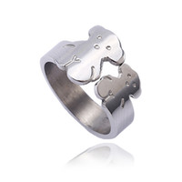 Wholesale Design Best Selling - TL stainless steel bear ring for women special design silver plated four colors best selling brand jewelry
