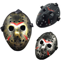 mascara de jason gratis al por mayor-New Jason vs Friday The 13th Horror Hockey Cosplay Halloween Killer Mask Envío gratis