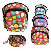 Wholesale NEW Pet Dog Bag Backpack With Leash Cute Pet Dot Outdoor Travel Snack Bag Carrier