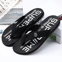Wholesale Shoes Canvas Injection - 40-44 men shoes man sandals flip flops summer male breathable EVA Beach Shoes luxury brand Slippers men flip flops chaussure plus size 44