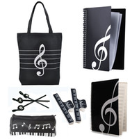 Wholesale New Music Art Students Study Set Music Stationery Set School Study Set With Large Capacity Bag Black Kinds