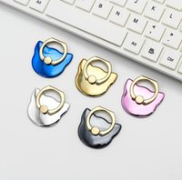 Wholesale Gold Ring Pops - Electroplated cartoon cat series pop Grip stent Reusable for Smartphones Tablets Flexible mounting stand finger ring Holder