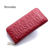 Wholesale New Women S Leather Wallet - Nevenka 2017 New Arrival Women Casual Bag Genuine Leather Wallet Quality Lady Letter Fashion Purse Zipper Key Chain Wallet S