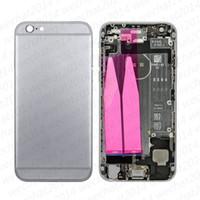 botón de encendido del iphone flex dhl al por mayor-Carcasa completa Cubierta posterior Cubierta de batería con botones laterales Power flex Dock Assembly para iPhone 6 Plus 6s Plus DHL gratis