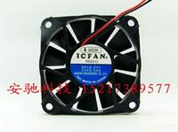 Wholesale 24v Cooler Fans - Wholesale: ICFAN 0610-24V 24V 0.08A 6 cm 6010 2 wire cooling fan