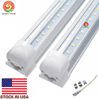 Wholesale China Wholesale Factories - 8 foot LED Bulbs Tube Lights 8ft 56W V Shaped T8 Integrated 85-265V 0.95PF 60HZ 384LEDs Canada Direct Shenzhen China Manufacturing Factory