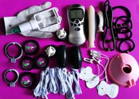 BDSM Electric Shock Therapy Kit Bondage Gear Nippel Clips Penis Anal Vaginal Plug Handschuhe Cock Penis Ring Schröpfen Sex Toys