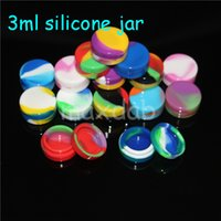 Wholesale Toy Shipping Containers - 3ml silicone wax concentrate containers, Non-stick silicone Dab BHO Hash Oil Dry Herb Storage Jars silicone nectar collector Free Shipping