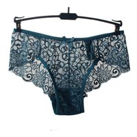 Wholesale Transparent Full Briefs - Hot Women Sexy Full Lace Panties S-XL Size European size Mid Rise Bowknot Briefs Underwear , Exotic Summer Transparent Intimates