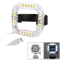 Wholesale Led For Gopro - For GoPro Hero4 Hero 4 Session Action Camera Only 38pcs LED Qty 1.9W 160 LM USB LED Ring Light Free Shipping