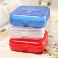 Wholesale Plastic Retail Package Color - Mini Portable 6 Slots Travel Medical Pill Box Medicine Case (Random Color) With Retail Package Drop Shipping