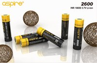 Wholesale Electronic Cigarettes Rechargable - 1800mAh(40A) 2600mAh(20A) high capacity rechargable Aspire 18650 battery for Vaporizer-Electronic Cigarette 3.7V high discharge current 20A