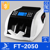 Wholesale money counts - Wholesale- FT2050 110V 220V EU US PLUG New LCD Display Money Bill Counter Counting Machine Counterfeit Detector UV & MG Cash Bank