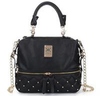 Wholesale Watermelon Rhinestone - Fashion kardashian kollection brand black chain women handbag shoulder bag KK Bag totes messenger bag free shopping