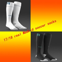 Football sport hoses - Real Madrid soccer socks adult sport socks men s Knee High cotton soccer stocking thai quality Thicken Towel Bottom long hose