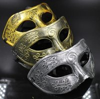 Wholesale Prince Adult Costume - Masquerade Masks Halloween Costumes Halloween Mask Half Face Party Masks Masquerade Knight Prince Masks Mardi Gras Party Mask CCA7418 180pcs