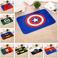 Hot selling superhero series kitchen bathroom carpet superman doormat decorative home office alfombra anti slip rug tapete floor mat