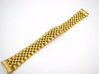 наручные часы оптовых-20 мм из нержавеющей стали 316L юбилей серебро TwoTone золото наручные часы ремешок браслет твердый винт ссылки изогнутый конец