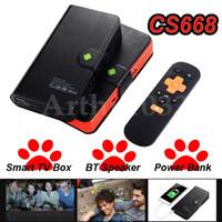 Wholesale Hd Power Bank - Amlogic S905X CS668 Android 6.0 TV Box & Bluetooth Speaker & 5000mAh Power Bank 1G 8G Quad Core 4K Smart Mini PC IPTV Media Player
