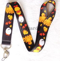 Wholesale Camera Strap Design - Free Shipping Badge Mobile phone camera MP3 4 Lanyard for Keys neck strap charm Print Mix design