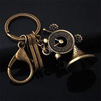 Wholesale Vintage Modeling - Creative design Retro Loudspeaker Keychain Vintage Music Horn Modeling Key Chain Anti Bronze Metal Activity souvenir Gift