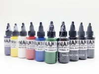 Wholesale Ink Bottle Printer - ink printer Free Shipping 5 Bottles Dynamic Tattoo Ink 30ml  1oz   30g Color Tattoo Pigment 7 Colors For Choose
