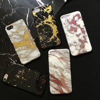 Wholesale Protective Covers Chrome - Marble Case For iPhone X 8 7 6 Plus Chrome Marble Stone Soft TPU Protective Cases Cover