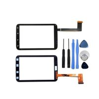 Wholesale Digitizer Wildfire - black For HTC Wildfire S A510e G13 Touch Screen with digitizer Front Outer Glass Panel Lens replacement parts