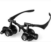 schmuck werkzeuge lupe großhandel-9892GJ 10X 15X 20X 25X LED Harz Lupa Lupe Schmuck Brillenlinse Juwelier Lupe Uhr Reparatur Lupe Messwerkzeuge