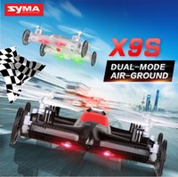 Wholesale Helicopter Car Rc - 2017 Newest Syma X9 X9S RC Helicoptero Drones Profissional 2.4G 4CH 6-Axis Quadrocopter Remote Control Flying Car Aeromodelo