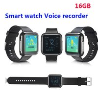 Wholesale-Digital Sports watch Voice Recorder 16G enregistreur de voix avec sport MP3 Support musique play wearable homme femme regarder enregistreur vocal