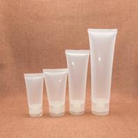 recipientes plásticos de creme vazio venda por atacado-Atacado-Glossy Plastic Recarregável Soft Tubo Vazio Facial Cleanser Creme para as Mãos Container Squeeze Lotion Shampoo Garrafa 15 30 50 100ml