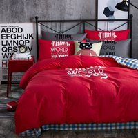 Offset cinese rosso offset stampato Twin / Queen / King formato 100% cotone Set Kids Bedding