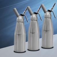 Wholesale Aluminum Brief - 1000ML Cream Whipper Siphon Bottle Soda Maker Durable Anti Bump Design Multi Spiral Kitchen Helper Wholesale