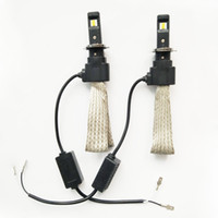 2PCS 1SETS Super Bright voiture LED phare F2 H1 9005 9006 H3 H4 H7 H8 H9 H11 H16 Bulbe Auto imperméable à l'eau Lampe avant antibrouillard 3200LM 6500K Blanc