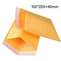 Wholesale Kraft Paper Pouches Wholesale - Newest 3.9*7.8 inch 100*200mm+40mm Kraft Bubble Mailers Envelopes Wrap Bags Padded Envelope Mail Packing Pouch Free Shipping