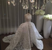 Wholesale Dresses Removable Skirts - 2017 New Saudi Arabic Over Skirt Wedding Dresses Lace Appliques Strapless Backless Sleeveless Elegant Bridal Gowns with Removable Skirt