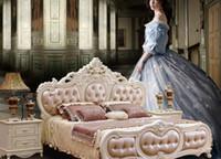 Wholesale Bedroom Suites - European bedroom furniture set combination of complete sets of equipment second bedroom living room princess bed room furniture suite combin