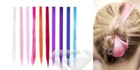"Wholesale Long Hair Extensions Blonde - Fashion Long Straight Rainbow Colourful Clip In Hair Extension Hairpiece 60x2.8cm 23.6x1.1"" 14 Colors Choose HA0045"