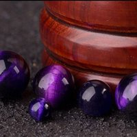 Wholesale Natural Amber Necklaces - Free shipping Tiger Eye Beads,ethnic, Round, purple Round Jewelry Natural stone Necklace Bracelet sweater chain Fashion Gift