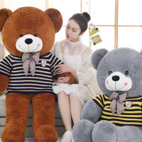 Wholesale Teddy Bear Wedding Decorations - Small Cute Teddy Bears Stuffed Animals Soft Plush Toys Brown Hold Bears Baby Gift Girls Toys Wedding And Birthday Party Decoration KF
