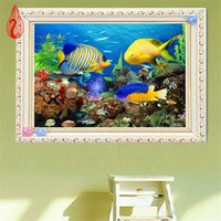Wholesale Rectangle Cube - YGS-93 DIY 5D Diamonds Embroidery Underwater World Magic Cube Round Diamond Painting Cross Stitch Kits Diamond Mosaic Home Decor