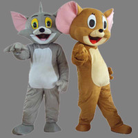 Wholesale Mouse Jerry Costume - Cartoon Character Jerry Mouse Adult Size Mascot Costume Fancy Birthday Party Dress Halloween Carnivals Costumes With High Quality
