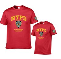 Wholesale Short Sleeve Police Shirt - New York Police Department short sleeve T-shirt NYPD Men's Basic Cotton Tops New