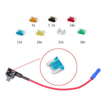 Wholesale Add Motor - Car Motor Power Cable ADD A Circuit Blade Style Fuse Adapter ATM Cable Add-A-Circuit Fuse Holder APS ATT LOW PROFILE Mini ATO ATC with Fuses